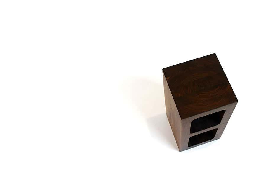 single wooden cinder block by sergio silva