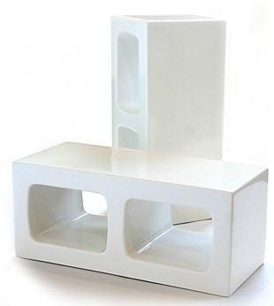 ceramic cinderblocks by sergio silva