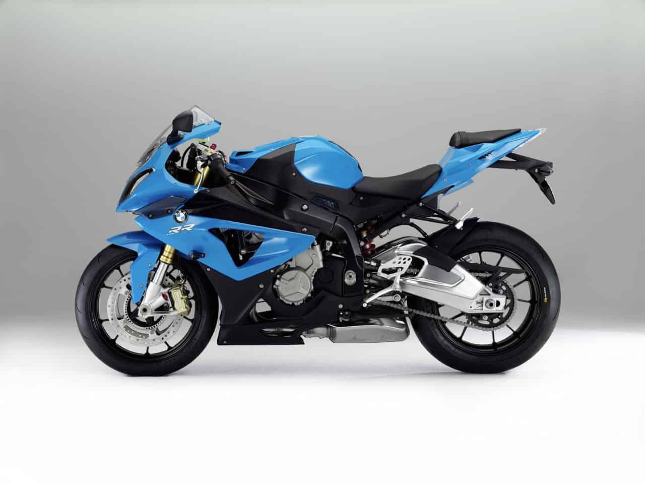 Blue Black BMW S 1000 RR Sport Bike