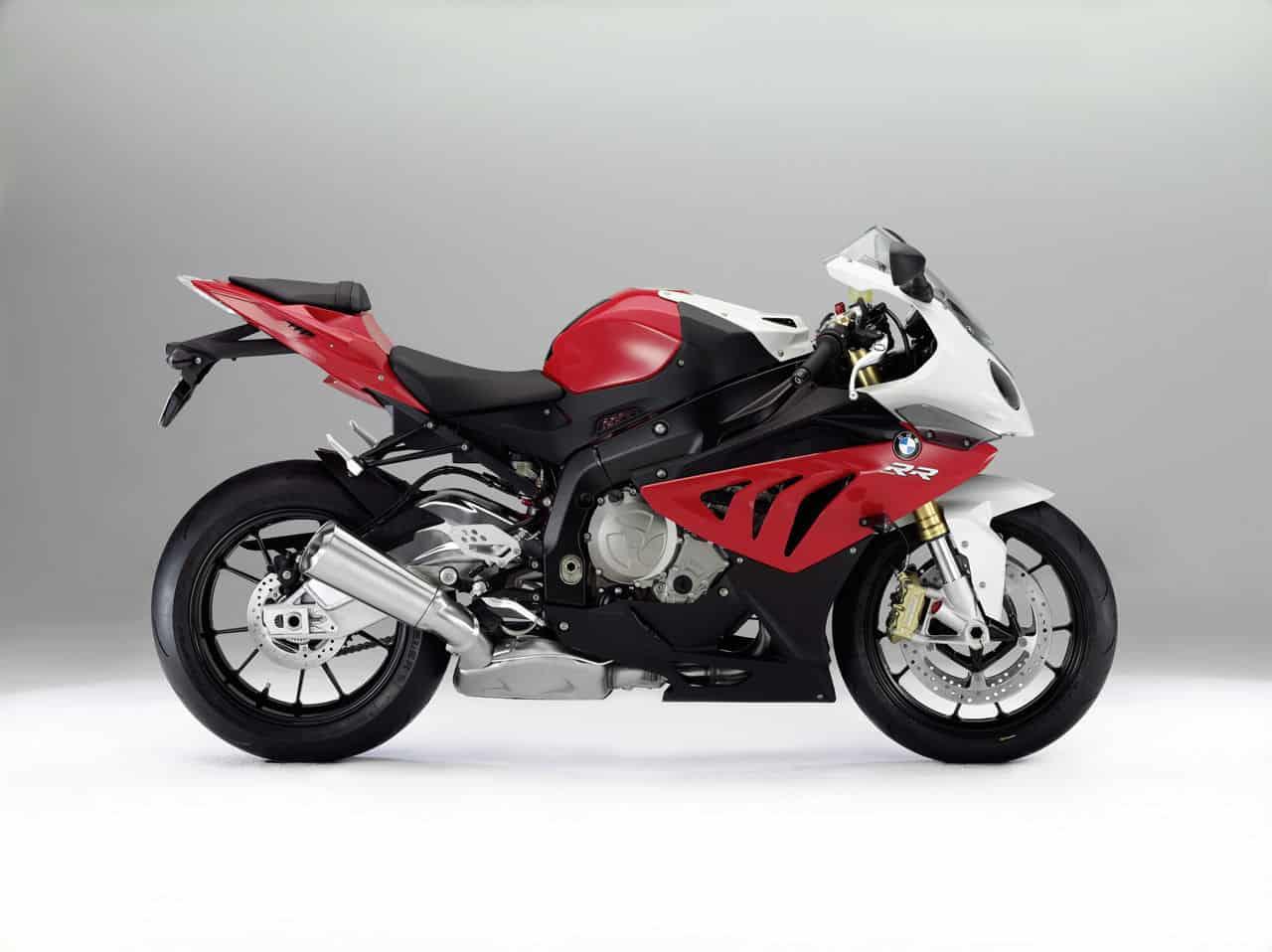Red White BMW S 1000 RR Sport Bike