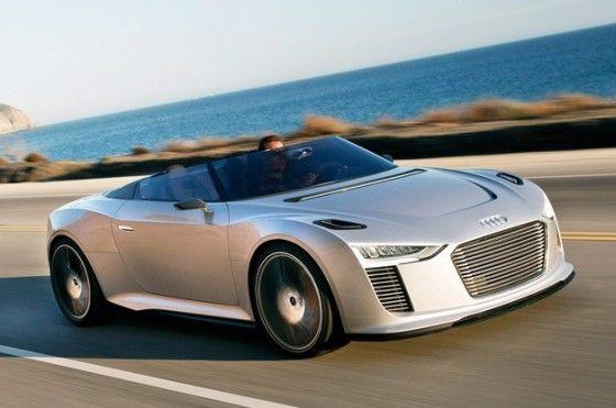 Audi e-Trong electric car cruise