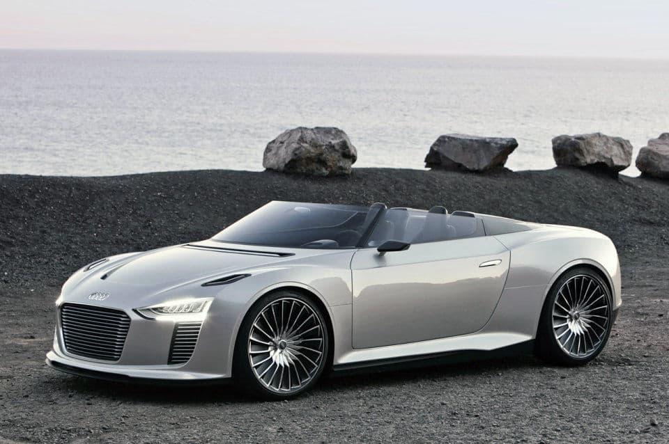 Audi e-trong Spyder on a beach