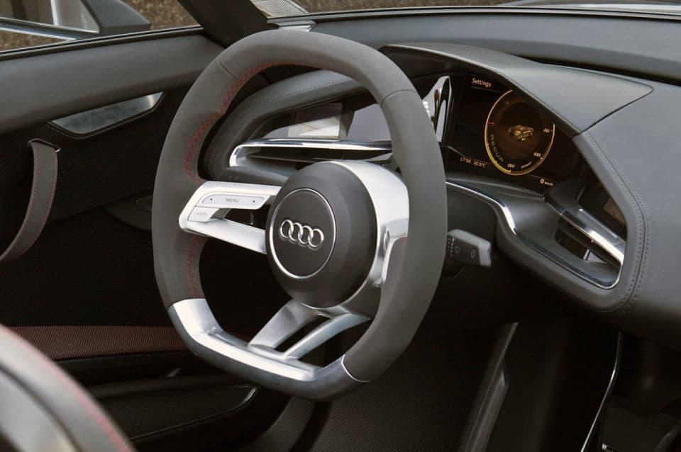 Steering Wheel on Audi e-tron Spyder