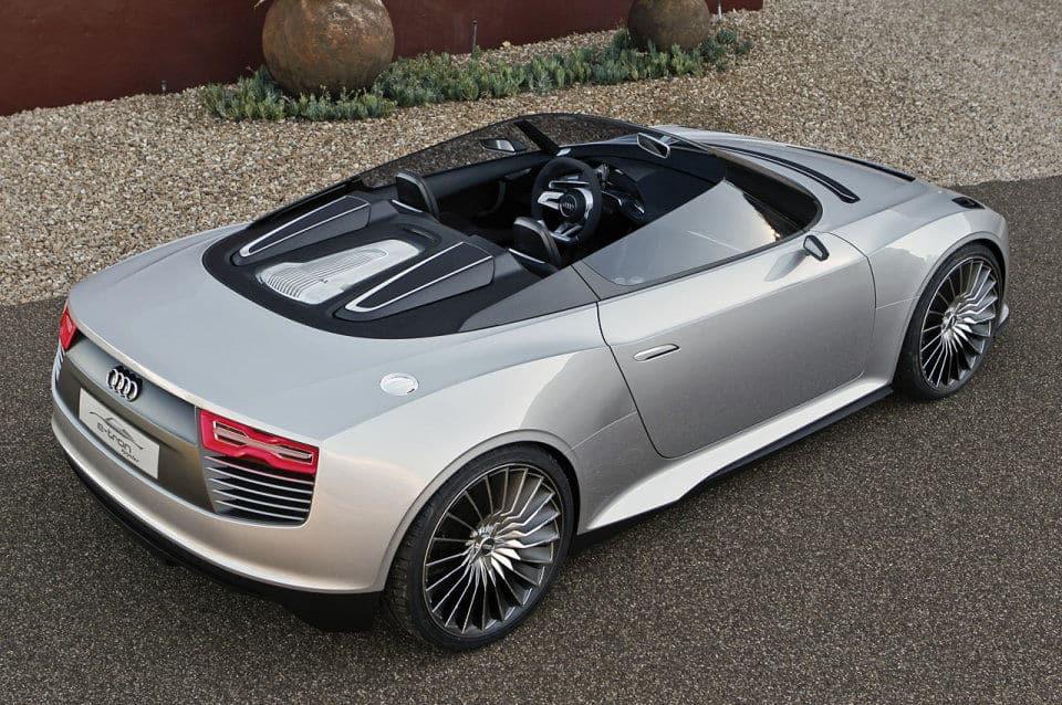 Rear Quarter Panel of the Audi e-tron Spyder