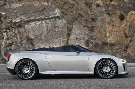 Parked Audi e-Trong Spyder electric car