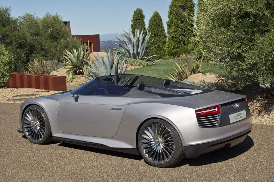 Audi e-tron Spyder electric concept car