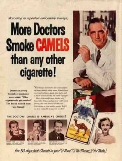 Bad Health Ads From The 50s