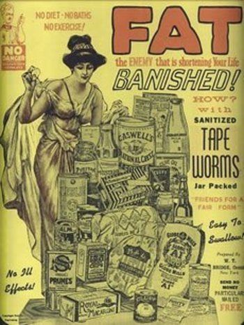 Sanitized Tapeworms Ad