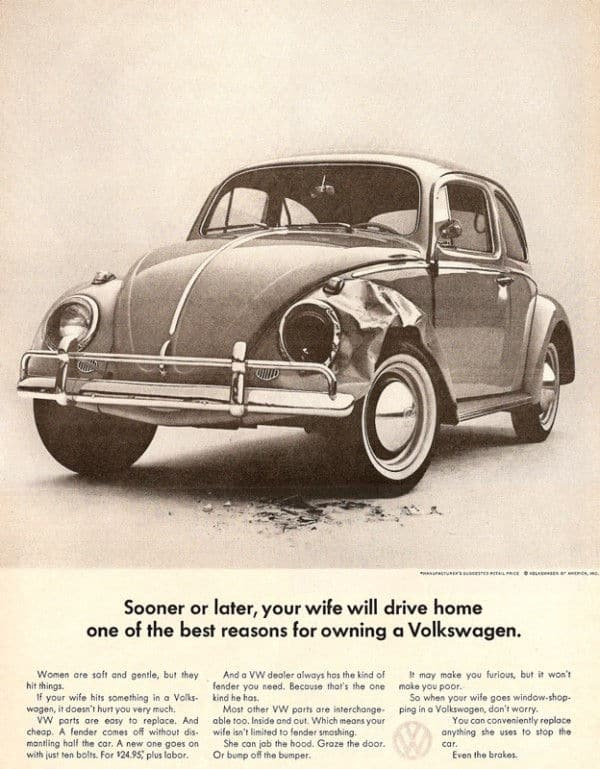 Sexist VW Beetle Ad
