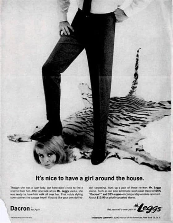 Walk all over women seixt vintage ad