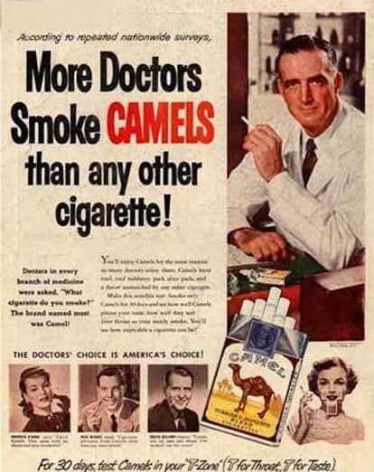 Vintage Camel Cigarette Ad
