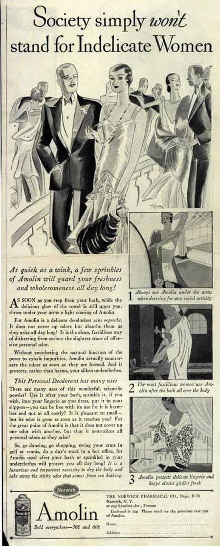 Vintage Sexist Deodorant Ad
