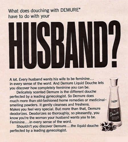 Vintage Sexist Douche Ad