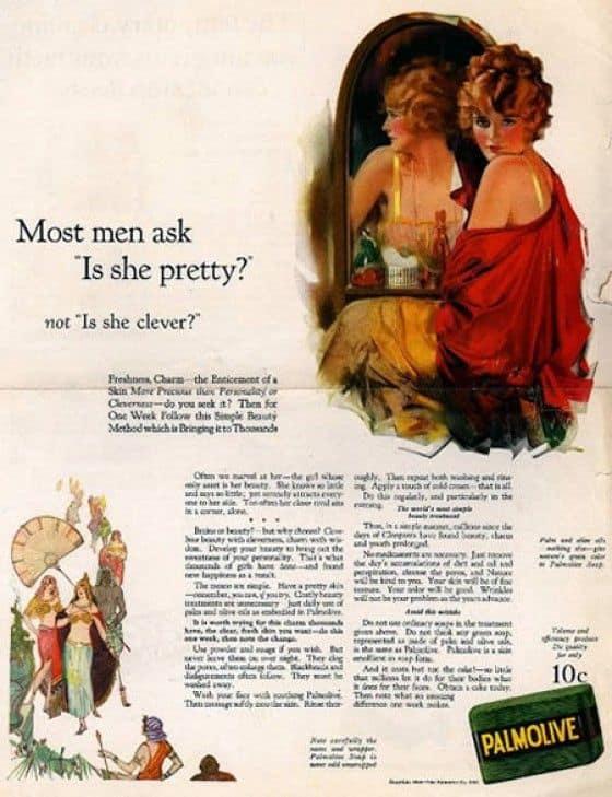 Sexist Palmolive Print Ad
