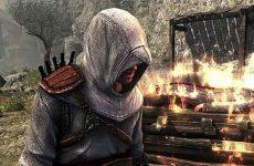 Altair near burning man in Assassin's Creed Revelations