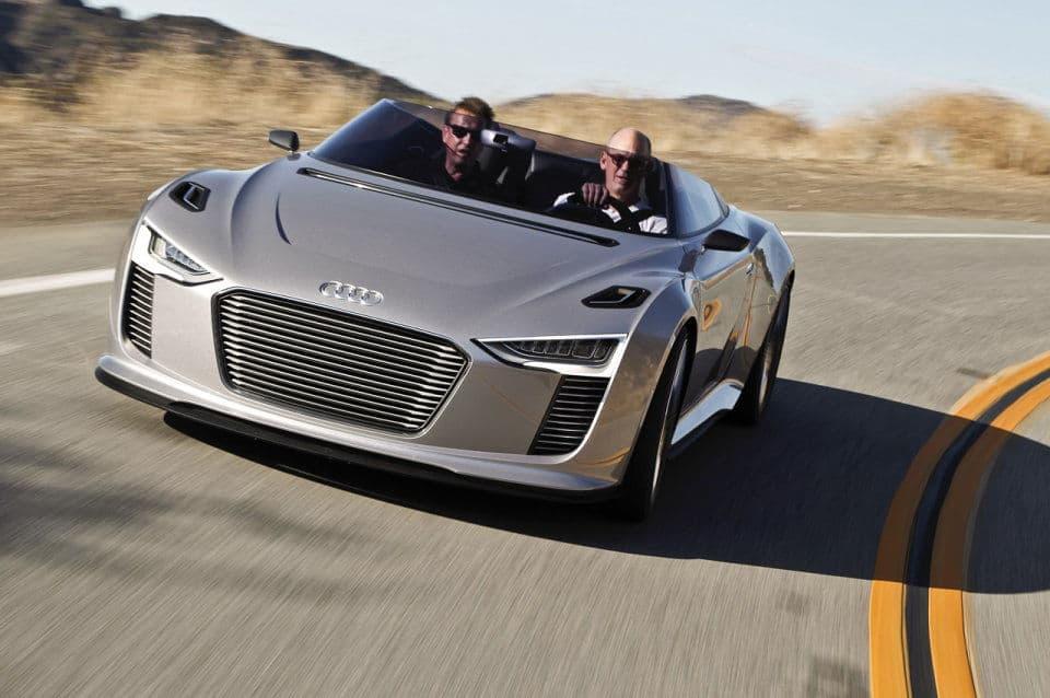 Audi e-tron Spyder on the track