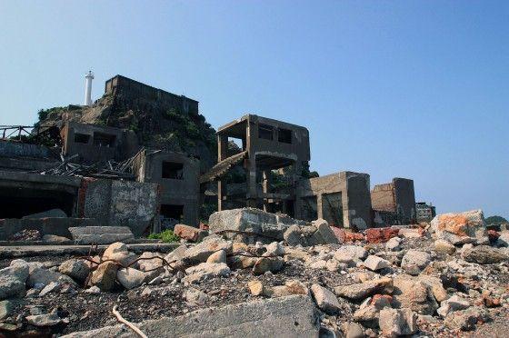 Concrete Rubble on Hashima Island