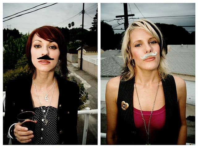 cute movember girls with drinks
