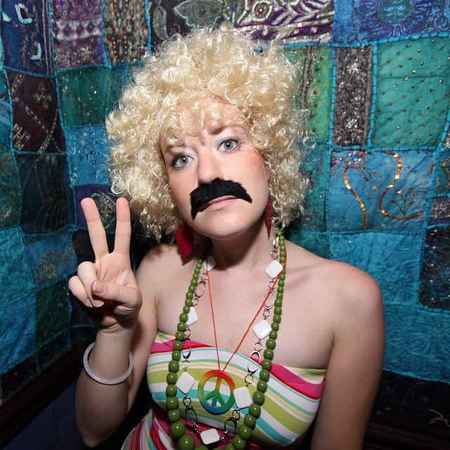 hippie movember girls with moustache