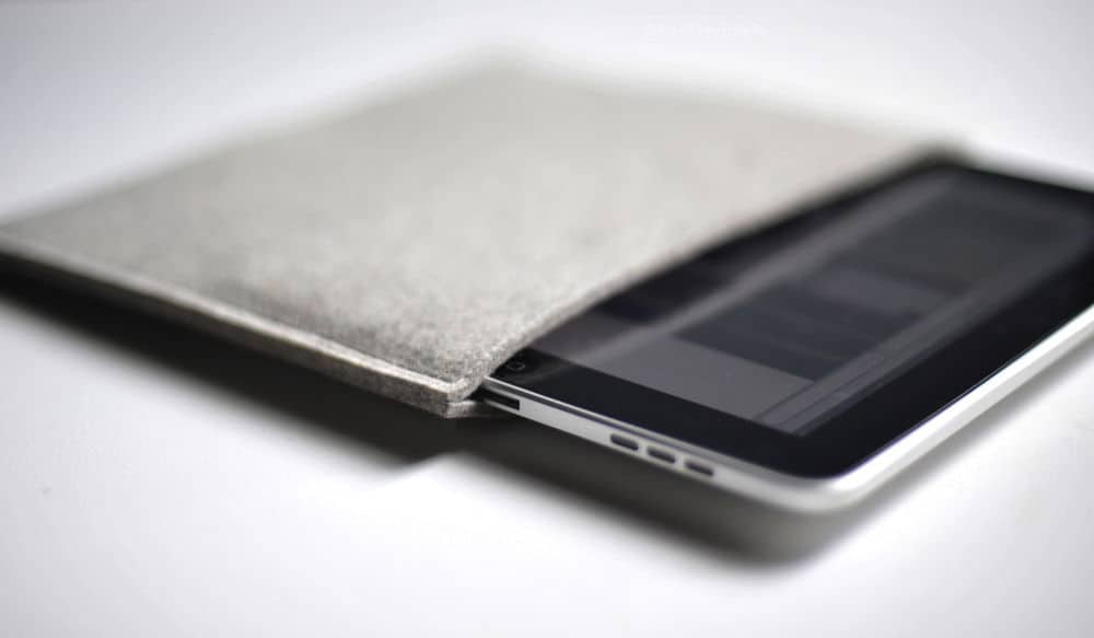 wool and leather simple ipad cases by Byrd & Belle