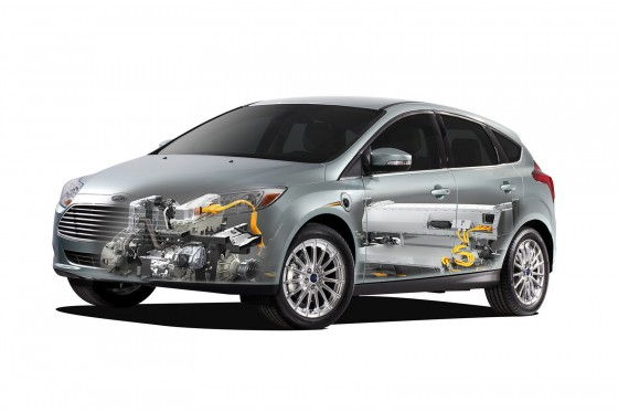 2012 Ford Focus EV with electric parts picture