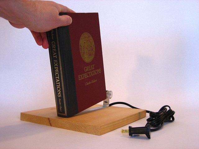 lifting the book on the secret passage light switch