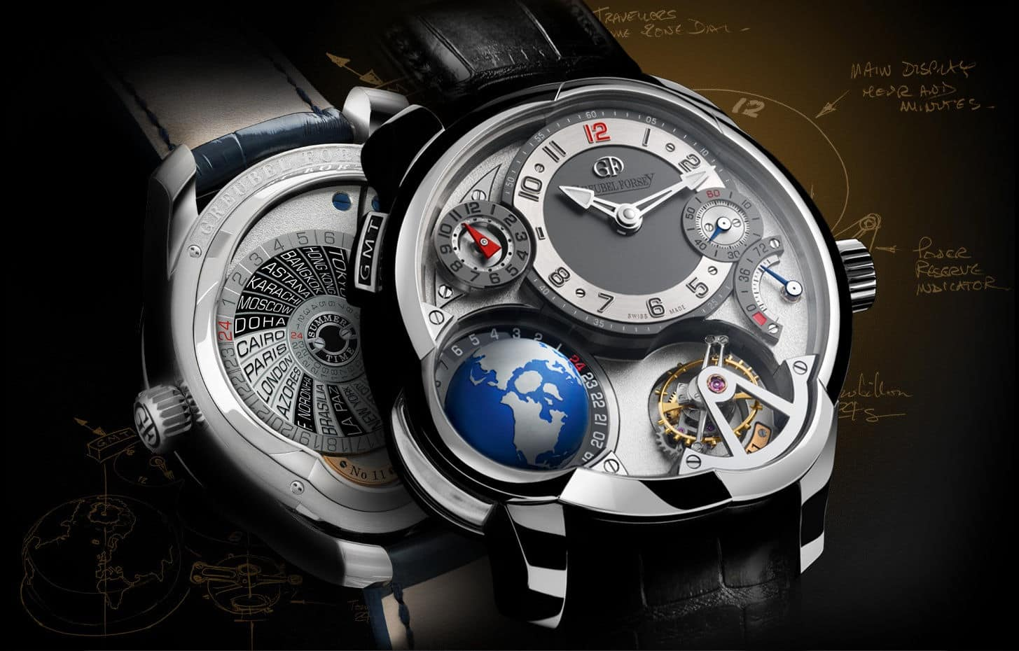 Greubel Forsey GMT Tourbillon Luxury Watch