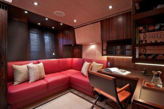 Luxurious office space in a yacht