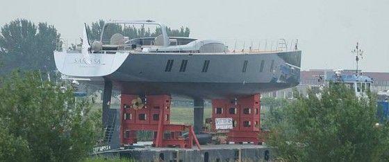 Construction of the Sarissa Super Yacht