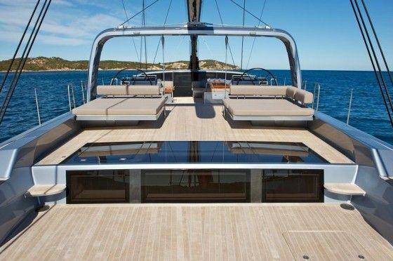 Spacious deck area of sarissa sailing yacht