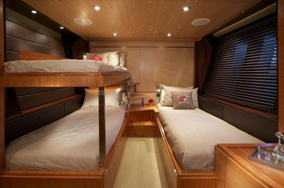 Guest's quarters on the Sarissa Yacht