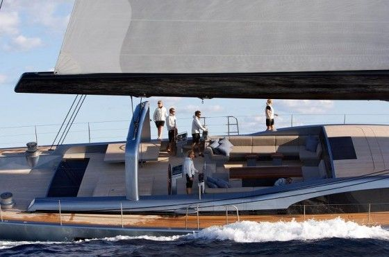Sarissa sailboat sailing on the seas