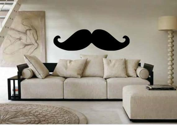 giant mustache wall decal
