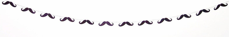 mustache paper garland