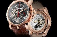 roger dubuis excalibur flying tourbillon single push chronograph watch