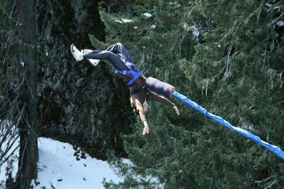 Scary bungee jump in Whistler, BC