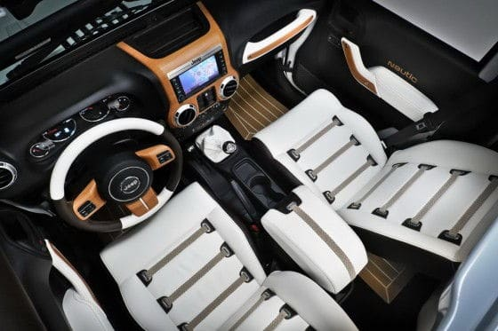 Jeep wrangler nautic blanche interior