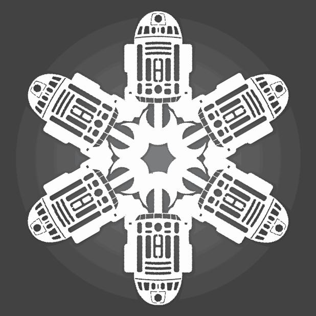 Star Wars Snowflakes r2-d2