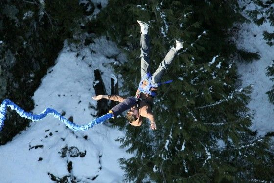 Bouncing back up after a bungee jump