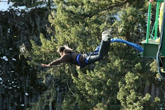 Leap of Faith bungee jump in Whistler, BC