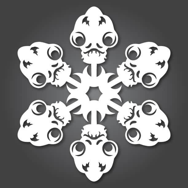 Star Wars Snowflakes admiral ackbar