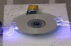 Electricity erasing a cd
