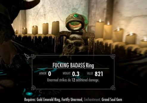 fucking badass ring for an unarmed viking badass