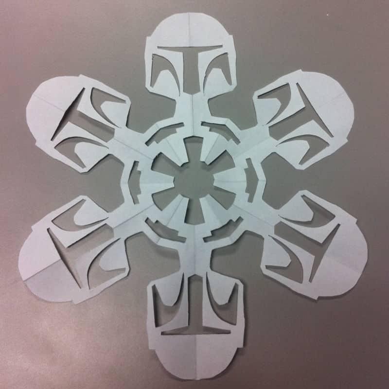 Star Wars Snowflakes boba fett