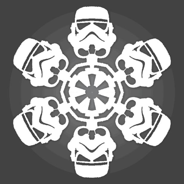 Star Wars Snowflakes storm trooper