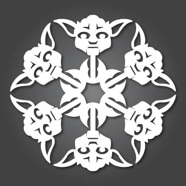 Star Wars Snowflakes yoda