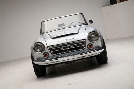 Front view restored 1967 Datsun Roadster 2000