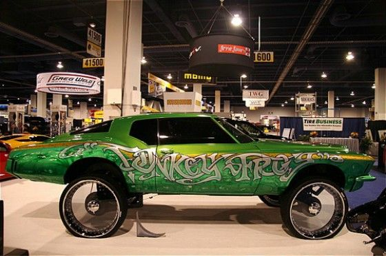 Donk Car with see through wheels