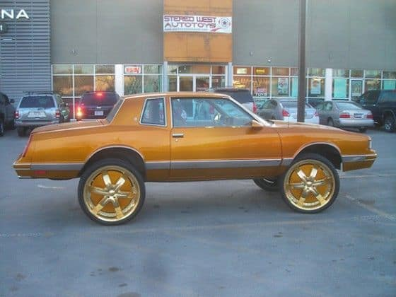 Buick Donk Car copper paint job