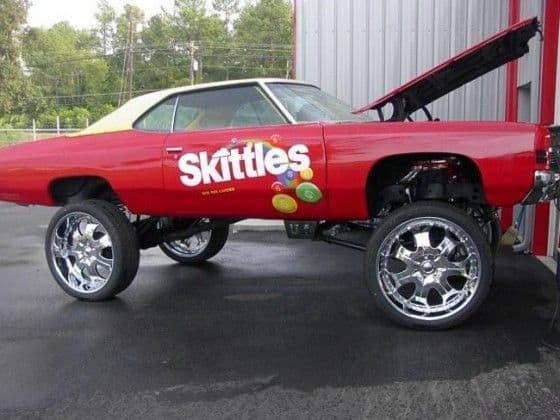 Skittles sponsored Donk Car